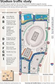 Las Vegas Hotel Strip Map by Stadium Traffic Study Lists Improvements Needed By 2020 Nfl Season