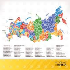 Map Russia Russia Map Infographic Of Russian Federation Vector Image