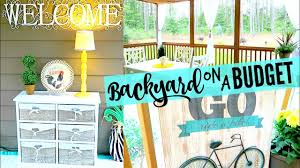 backyard house tour decorating on a budget farmhouse country