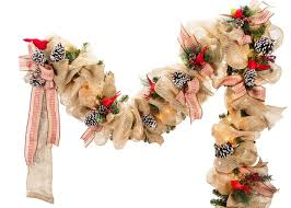 burlap christmas lighted burlap christmas garland craft ideas