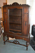 Antique Curio Cabinet With Desk Antique China Cabinets 1900 1950 Ebay