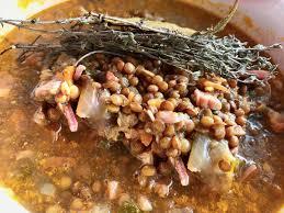 cuisiner palette demi sel lentilles mijotées palette demi sel et petits lardons