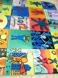 beautiful children art work displayed on a school wall mural beautiful children art work displayed on a school wall mural ceramictile