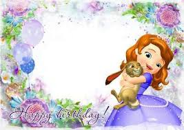 birthday frame princess sofia psd layered 2 png frame