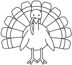 simple drawing of a turkey exquisite coloring pages draw a