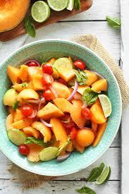 summer tomato u0026 cantaloupe salad recipe