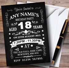 vintage chalkboard style black and white 18th birthday party
