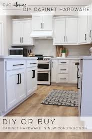 where can i buy kitchen cabinet hardware diy or buy cabinet hardware cjc interiors