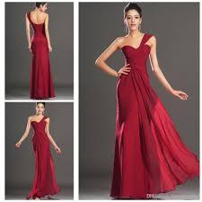 deep red chiffon bridesmaid dresses
