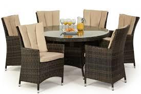 Maze Kitchen Table - maze rattan la 6 seat round dining set rattan furniture fairy