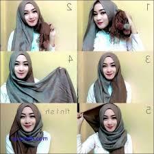 tutorial hijab pashmina tanpa dalaman ninja koleksi cara memakai kerudung pashmina selendang tanpa ciput