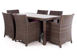 ciro rectangular synthetic wood top outdoor dining table for 6 or
