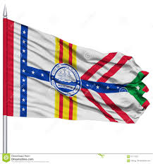 Florida Flag History Tampa City Flag On Flagpole Usa Stock Illustration Illustration