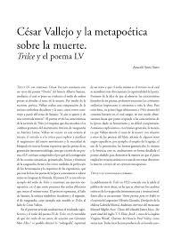 poesia alusiva al 5 de febrero de 1917 constitucion apexwallpapers césar vallejo y la metapoética sobre la muerte trilce y el poema lv