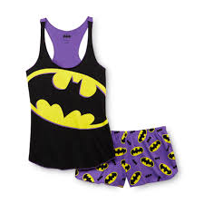 dc comics batman women u0027s racerback pajama top u0026 shorts