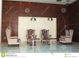 modern reception interior at luxury greek hotel stock photo