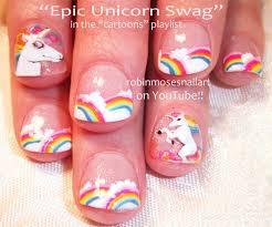 nail art tutorial unicorns u0026 rainbows short nail art design