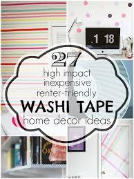 washi tape designs washi tape home decor ideas remodelaholic