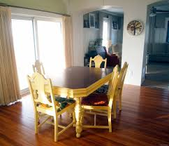 yellow kitchen table and chairs refoaming reupholstering reality daydream