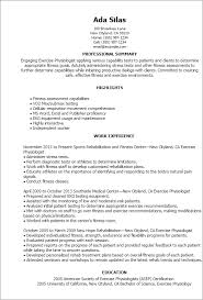 Sports Resume Template Professional Exercise Physiologist Templates To Showcase Your
