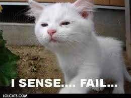 Fail Memes - i sense fail cat meme cat planet cat planet