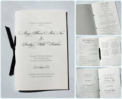 Wedding Programs With Ribbon Black Fancy Script U0026 Scroll Wedding Ceremony Booklet Programs With