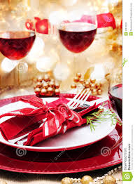 decorated christmas dinner table stock photo image 32916520