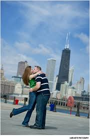 Wedding Photography Chicago Jenny Mark Chicago Engagement Session At Navy Pier Chicago