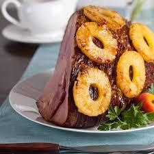 thanksgiving ham recipes with pineapple pineapple apricot glazed ham entree main dish recipes dole