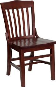 Wooden Restaurant Chairs Mahogany Dining Chairs Amazon Com