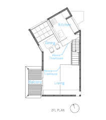 tree house condo floor plan small modern house with dogleg plan idea home improvement