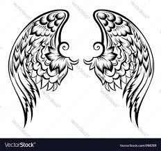 wings tattoo royalty free vector image vectorstock