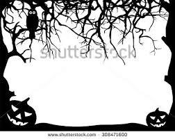 spooky tree halloween night vector background download free