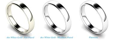 Difference Between Engagement Ring And Wedding Band by Platinum Versus White Gold Wedding Rings Diny U0027s Jewelers