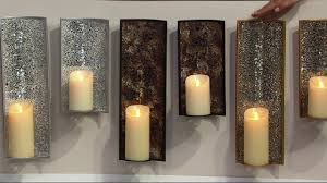 Flameless Candle Wall Sconce Luminara Mosaic Wall Sconce With Flameless Pillar Candle On Qvc