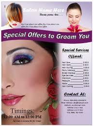 salon brochure templates free free salon flyer template free