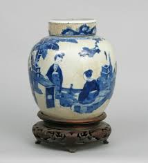 a chinese blue u0026 white ginger jar with lid ching dynasty ca