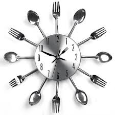 kitchen utensils design silverware utensils kitchen wall clock
