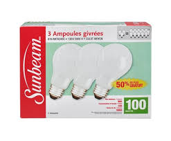 rough service light bulbs sunbeam a19 rough service 100w 130v 5000h soft white 3 pack