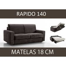 canapé lit 3 places master convertible rapido 140 cm microfibre