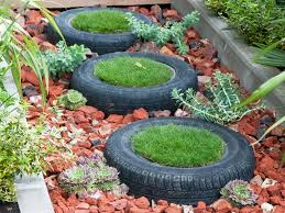 Recycling Ideas For The Garden Make Garden Containers From Cast Offs Tyres Recycle Tired And