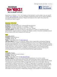 Michigan Works Resume Builder 100 Michigan Talent Bank Resume Pure Michigan Talent