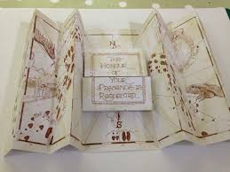 Map Wedding Invitations Marauder U0027s Style Map Depicts Their Very Own Love Story