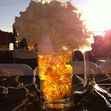 Beer Centerpieces Ideas by Beer Can Centerpiece Ideas Diy Using Beer Mugs Cellophane