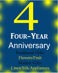 4th anniversary gift ideas gift ideas to celebrate a fourth wedding anniversary pickurgift