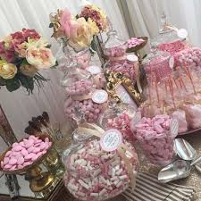 Flower Table L Wedding Sweetie Table Table Pink And Gold Buffets L