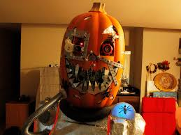 Pumpkin Halloween Costume Mutant Cyborg Pumpkin Halloween Costume Make