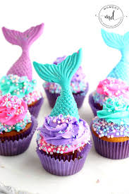 m m cake toppers mermaid cupcake recipe with chocolate toppers
