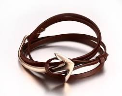 bracelet leather anchor images Leather anchor bracelet top notch essentials jpg