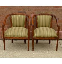 hollywood regency style upholstered chairs ebth